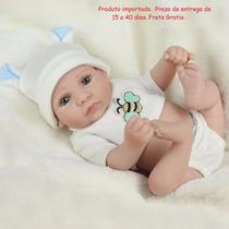 Bebe Reborn 28 Cm Mini Silic Menino Realista Frete Grátis7