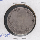 Moneda Plata Bolivia 1775 Potosi J.r. 2 Reales Condicion Vf