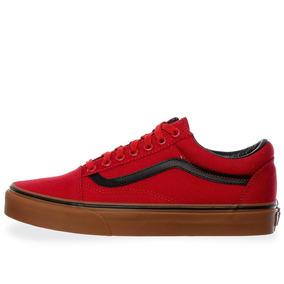 Tenis Vans Old Skool - 38g1mlp - Rojo - Hombre