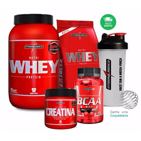 Kit 2x Whey + Bcaa + Creatina - Integralmédica