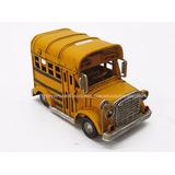 Auto Bus Escolar Estados Unidos School Bus Chapa Deco Mini