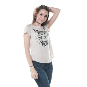 Franela Beige Miow Or Never Saints Clothes