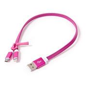 Cable Cargador De Celular Tablet Tipo Cierre 2 En 1 Usb