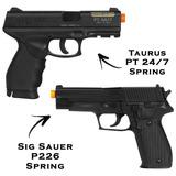 Pistolas Airsoft Spring Taurus Pt 24/7 + Sig Sauer P226 6mm