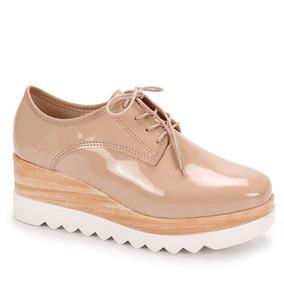 Sapato Oxford Feminino Moleca - Bege