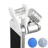 Clipe Lente Universal Para Celular Led Microscópio 60x Lupa