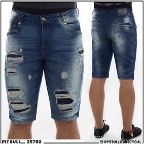 Bermuda Jeans Masculina Pit Bull Original 25760