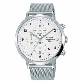 Reloj Analógico Marca Lorus Modelo: Rm313ex9 Color Plata Par