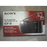 Radio Sony Icf-8 Fm/am 2 Bandas