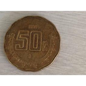 1410- 1 Rara Magnifica Moeda 50 C México - 1933