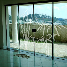 Adesivo Decorativo Para Vidro Bambu Jateado (172x155)cm