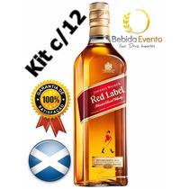 Whisky Red Label Jw 1lt Cx C/12 Original