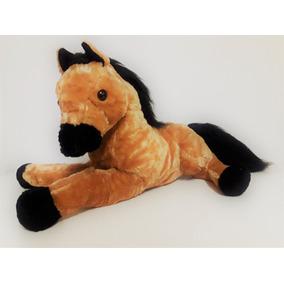 Cavalo De Pelúcia Caramelo - 45cm