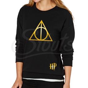 Sudader Mujer Negra Harry Potter Deathly Hallows Inc. Envío