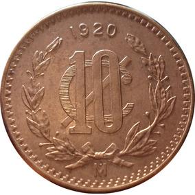 10 Centavos 1920 Mo Eu Mexicanos - Con Brillo - Muy Escasa
