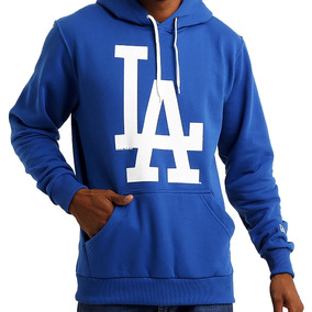 Blusa Moletom New Era Mlb Los Angeles Basic Canguru