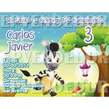 Tarjetas De Invitacion Zou La Cebra - Invitaciones Epvendedo