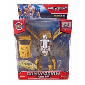 Robot Transformer Con Luz Y Sonido De Robot A Camioneta