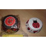 Pirotines Cupcakes Nº10 Vaquitas De San Antonio X 25 U