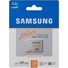 Memoria Sd 16 Gb Samsung Class 10 Ultra Rápida Cámaras Fotos