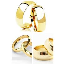 Par Aliança Namoro Compromisso Noivado Barata Folheada Ouro