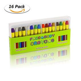 Fixget 16 Colores Cara Crayones, Pintura Profesional Seguro