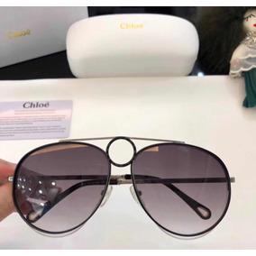 6e19326637e19 Oculos De Sol Aviador Chloe - Óculos no Mercado Livre Brasil