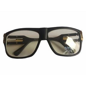 Armação De Óculos Nys Importado Preto E Dourado