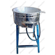 Fritadeira Inox A Gás Com Tacho Nº20 C/ Peneira P/ Salgados