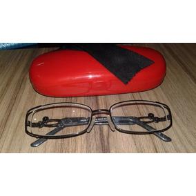 Armação Óculos Grau Feminina Preta Metal Pedra Stras Brilho