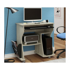 Mesa Para Computador 160 Capuccino Com Preto
