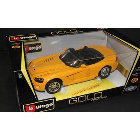 Carros Colección A Escala 1:18 Burago Dodge Viper Amarillo