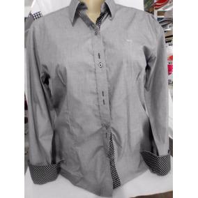 Kit 04 Camisa/camisete Slim Fit Social Feminina 100% Algodão