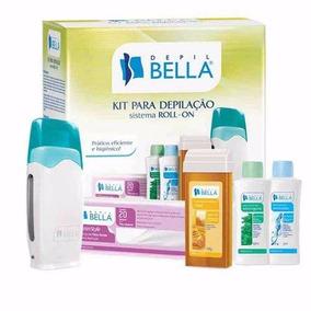 Kit Depilação Cera Sistema Roll-on Depil Bellla + 4 Brindes