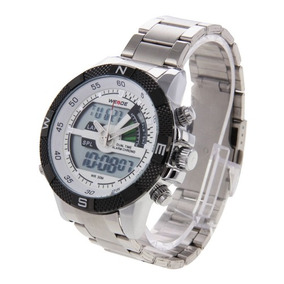 Reloj Correa Impermeable Acero Inoxidable Weide Wh1104 Lcd
