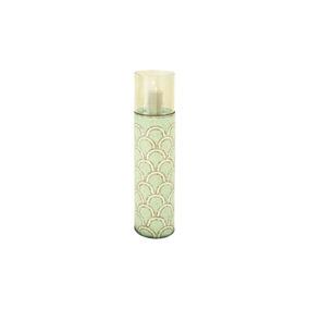 Portavelas Metal Glass Mosaic Candle Holder