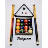 Set Kit Pool 2tacos+triangulo+2tizas+portatiza+bolas