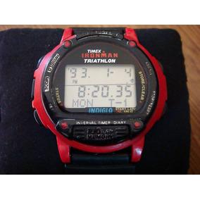 Raro Reloj Timex Ironman Triathlon. Color Rojo.