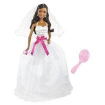 Barbie I Can Be Muñeca Vestida De Novia Afro-americano