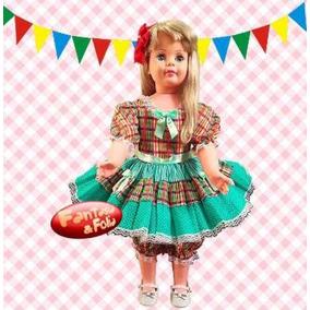 Vestido Festa Junina Caipira Infantil Luxo Fantasia 3311