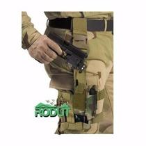 Funda Táctica De Pierna Para Pistola Marca Rodut Militar.