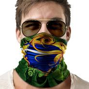Bandana Mascara Bandeira Brasil Lenço Moto Proteção 01