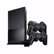 Ps2 Slim Original Destravado C/2 Controles Sony - Game Novo