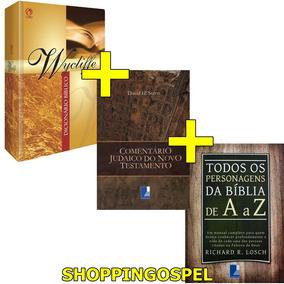 Dicionário Wycliffe + Personagens A A Z + Comentário Judaico