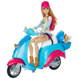 Barbie Moto Scooter Original Mattel Pink Passport