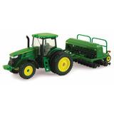 Tractor John Deere Con Sembradora 7215r Coleccionable