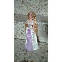 Barbie Rapunzel Disney Princesas Vestido De Novia