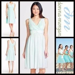 Vestido Donna Morgan Talla 4 Color Menta Nuevo Con Etiquetas