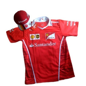 Kit Camisa Ferrari + Bone Ferrari Santander Top Envio Gola V