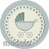 Kit Fest 195 Adesivos Personalizados Chá De Bebê Menino Nihv